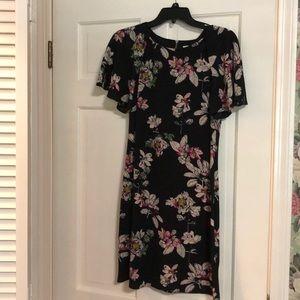 Julian Taylor black floral dress